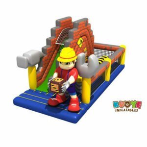 OC1819 Construction Cartoon Obstacle Course Inflatable