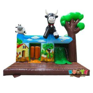 CB177 Farm Animal Bouncy Castle with Slide
