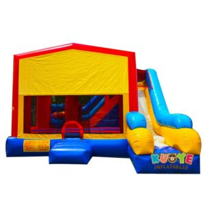 CB182 Module Combo Bounce House with Customs Banner